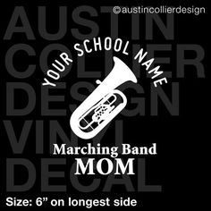 Custom Loud and Proud Marching Band Vinyl Decal Marching Band Bumper Sticker Band Mom Gift