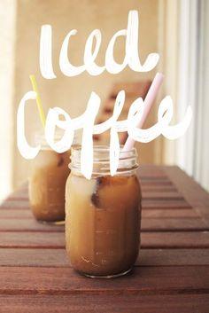 Iced coffee in mason jars <3