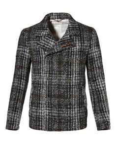 Made from a soft wool mohair blend, this double breasted peacoat is stylish, warm and versatile.