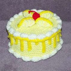 -Lemon Twist Treasure Cake PDF crochet pattern by FourBeesDesigns