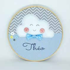 Felt Crafts Diy, Baby Birth, Baby Decor, Baby Cards, Dream Catcher, Decorative Plates, Baby Shower, Embroidery, Children