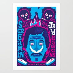 Buy THE ROOTS OF HORROR ROCK :: SCREAMIN' JAY HAWKINS Art Print by davidedwardjohnson. Worldwide shipping available at Society6.com. Just one of millions of high quality products available.