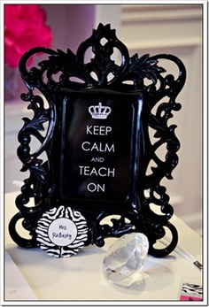 Keep Calm and Teach On ... could be an awesome teacher gift :)
