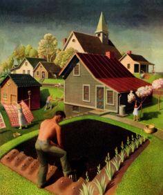 Spring, 1942, Grant Wood