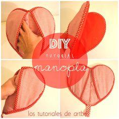 los tutoriales de artbril: DIY como hacer una manopla con forma de corazón