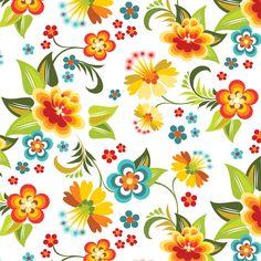 花の背景・壁紙イラスト-暖色系・茎葉