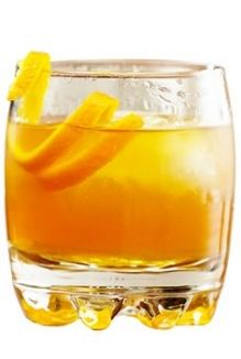 Queen Charlotte's Maple Cooler - 3 dashes of bitters - 1.5 oz. Queen Charlotte's Reserve - 1.5 oz. fresh orange juice - 1 oz. club soda - .5 oz. maple syrup - Stir, add ice and garnish with orange peel
