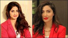 Who's looking gorgeous in the same Red & White outfit?  Sajal Ali or Mahira Khan