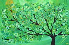 green tree art | Request a custom order and have something made just for you.