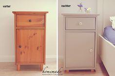 ♥ homemade ♥: Nachtschrank - Vorher/Nachher