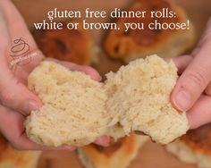 gluten free dinner rolls: whole grain or white - gf and me Gluten Free Dinner Rolls, Gluten Free Wraps, Dinner Rolls Recipe, Gf Bread Recipe, Vegan Bread, Gluten Free Baking, Gluten Free Recipes, Baking Recipes, Foods With Gluten