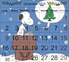 Contar cada uno de los días de Diciembre nos recuerda el comienzo de las fiestas y el término del 2013.