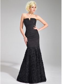 Special Occasion Dresses - $166.99 - Mermaid V-neck Floor-Length Chiffon Evening Dress With Ruffle Lace Beading Flower(s)  http://www.dressfirst.com/Mermaid-V-Neck-Floor-Length-Chiffon-Evening-Dress-With-Ruffle-Lace-Beading-Flower-S-017019679-g19679