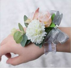 Romantic Bridal Wrist Corsage Wedding Flower Add Bridesmaid Artifical Wedding Flowers Bridal Wrist Corsage Cheaper Fast Shipping Fake Flower Bouquets Flower Bouquets Pictures From Lovewed, $3.52| Dhgate.Com