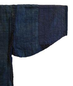 Sri | An Indigo Dyed Cotton Jacket: Sashiko Stitched and Gradient Blues