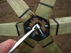 wooden geodesic dome hub design - Google Search