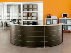 Salon reception desk should you have for several important reasons, including client management, administration, and pricing strategy. System Furniture, Design Furniture, Office Furniture, Desk Office, Office Decor, Small Reception Desk, Office Reception, Reception Areas, Reception Furniture