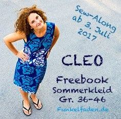 Sew-Along – Sommerkleid Cleo Gr. 36-46 als Freebook › Anleitungen, Do it yourself, Genähte Kleidung › Sew-Along