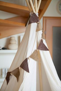 Discover recipes, home ideas, style inspiration and other ideas to try. Diy Tipi, Wooden Letter Crafts, Wooden Letters, Teepee Tent, Teepees, Diy Room Divider, Kids Tents, Baby Boy Rooms, Kidsroom