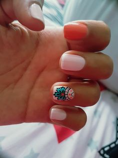 Fails design summer beach fashion 69 New Ideas Love Nails, Pretty Nails, My Nails, Shellac Nails, Acrylic Nails, Nail Polish Designs, Nail Art Designs, Mandala Nails, Short Nail Designs