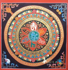 Mandala Thangka Paintings Tamang Atisan Nepal