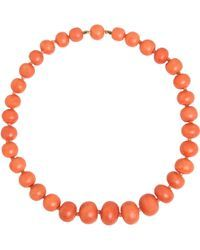 Olivia Collings - Coral Graduated Bead Necklace - Lyst