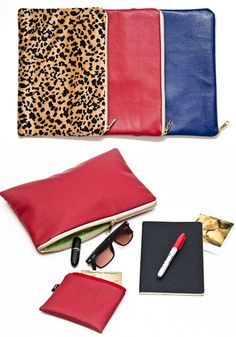 animal print clutch.  I want that pattern/color.  Perfect for brown or black boots!