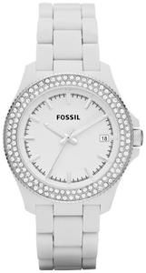 Fossil Watches, Women's Retro Traveler Three Hand Resin Watch - White