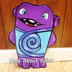 Boov From The Movie Home(Foam Board Cutout, Movie Character Cutout, Standee, Photo Prop, Birthday Party Decor, Wall Decor, Boy/Girl Room) by Madaboutpaintcutouts on Etsy https://www.etsy.com/listing/257241770/boov-from-the-movie-homefoam-board