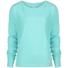 Bench Victoria too lightweight knitted jumper ($21) ❤ liked on Polyvore featuring tops, sweaters, shirts, jumpers, long sleeves, turquoise, sale, blue shirt, long sleeve sweater and shirt sweater