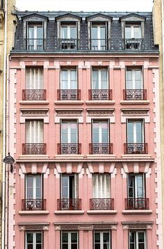 Architecture House Discover Paris Photography Pink Building in Saint Germain Architecture Fine Art Photograph French Decor Large Wall Art Urban Wall Decor Saint Germain, Beautiful Buildings, Beautiful Places, Architecture Parisienne, Architecture Art, Minimalist Architecture, Classic Architecture, Belle France, Grande Hotel