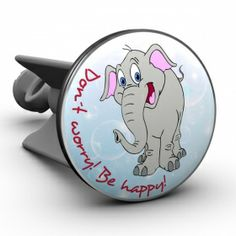 Waschbeckenstöpsel Elefant Don't worry