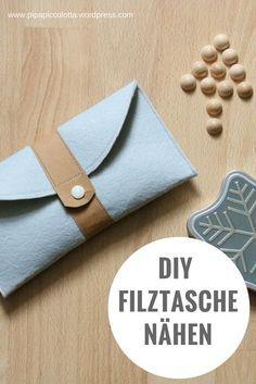 DIY-Anleitung für eine selbst genähte Filztasche