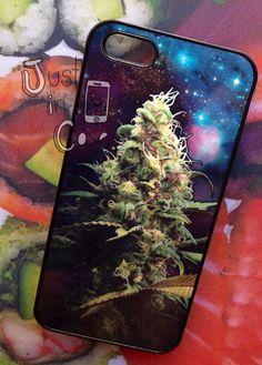 420 Hipster WEED 3D iphone 4 case // 3D Marijuana by JustInCasesLA