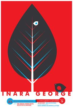 Our hand silkscreen printed poster for the super lovely Inara George of The Bird & The Bee.