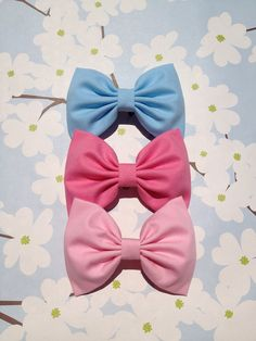 Beautiful large pastel bows.  Perfect gift. on Etsy, $15.00