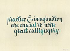 Calligraphy (I'm only missing one of these ingredients.lol)  #calligraphy