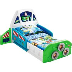 Disney Toy Story Buzz Lightyear Spaceship Toddler Bed - Walmart.com Could DIY a similar twin sized version