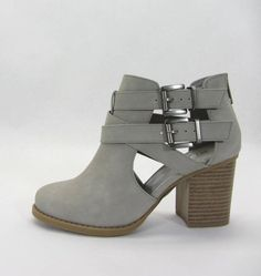 S-SCRIBE buckle strap detail booties