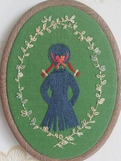Anne of Green Gables embroidery