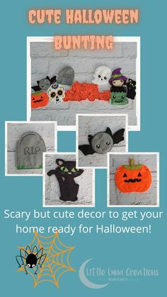 Scary but cute Halloween decor. Perfect bunting for your Halloween party or window display. Handcrafted felt characters on approx 2.5m of twine. Each character can be moved around so that the banner can fit into the space needed. Halloween Bunting, Cute Halloween, Halloween Decorations, Cute Gifts, Twine, Scary, Banner, Snoopy, Children