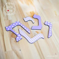 """Hebrew Letters 3.5"""" Hebrew Alphabet Jewish gifts - Jewish Baby gift Nursery Wooden Hebrew letters Baby Naming Brit Mila - by isralove by isralove Jewish gifts Mazel Tov Find it now at http://ift.tt/2uy0kJq!"""