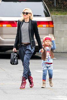 Gwen Stefani stripes and jacket