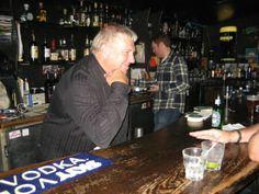 Lerxst the barkeep. Behind the bar at The Orbit Room.                                    (Pinned from Amanda Barnett. Thanx.)