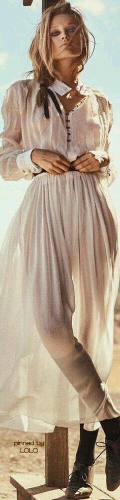 Toni Garrn by Norman Jean Roy for Porter Magazine Spring 2015 Cowgirl Chic, Western Chic, Cowgirl Style, Boho Gypsy, Bohemian Style, Boho Chic, Norman Jean Roy, Foto Fashion, Toni Garrn