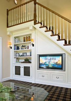 Interesting use of under-the-stairs space.