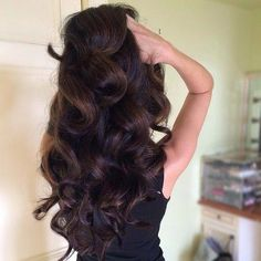 Perfect Thick Brown Curls - Hairstyles How To