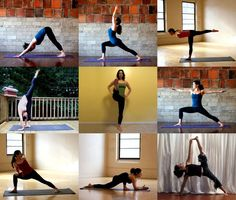 On-the-Go Yoga- printable pdf.   If don't have the time or money to make it to a studio for a yoga class, you can practice yoga on your own. My Total Body Yoga Flow Sequence is a nine-posture series that will work your legs, core, and upper body. It's a great sequence to do after a run, in the morning to warm up, or in the afternoon for a pick-me-up.
