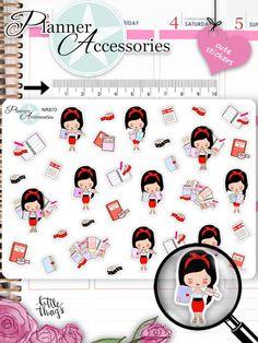 Sticker - Planner Girl Sticker NR870 - ein Designerstück von PlannerAccessories bei DaWanda