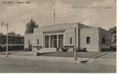 ID#0197 Date: Unknown. This is a postcard of Oberlin's 1933 Post Office on South Main Street. It was the community's first federal construction project and marked the beginning of full mail service. Prior to 1896, the Post Office was located in a building chosen by the current Postmaster (generally a building he owned or worked in). Participant: Charles Bailey. Additional Sources: Oberlin News-Tribune, March 29,1935.